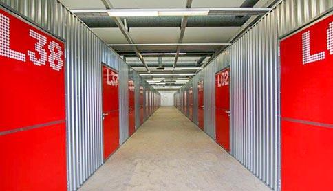 Flur vom Self Storage Bereich im Business Park Ludwigsburg