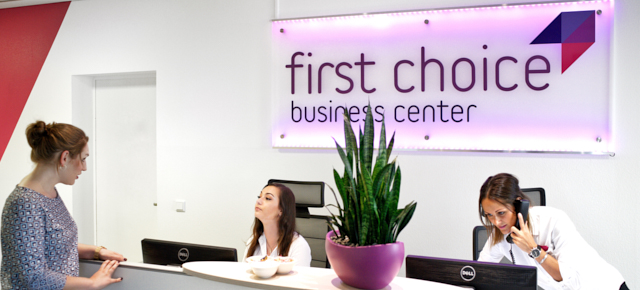 eingangsbereich zum first choice business center
