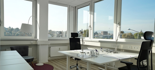 aussicht aus buero im first choice business center in wiesbaden