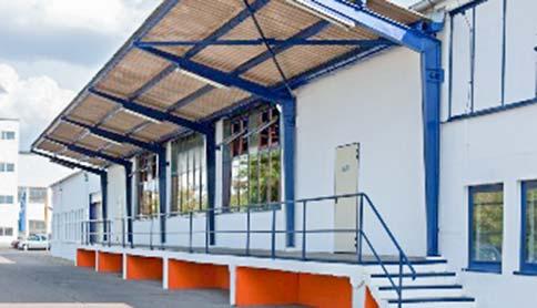 Ankunft Lagerhalle vom Sirius Business Park Magdeburg