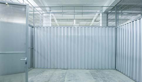 Innenansicht vom Self Storage Bereich im Sirius Business Park Magdeburg