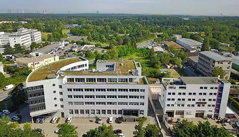 Luftaufnahme vom Sirius Office Center Gelände in Neu-Isenburg