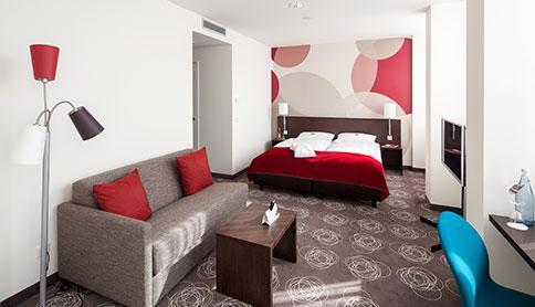 Hotelzimmer im Ruhrturm Essen